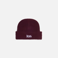 Kith Women Ribbed Mia Beanie - Wine Thumbnail 1