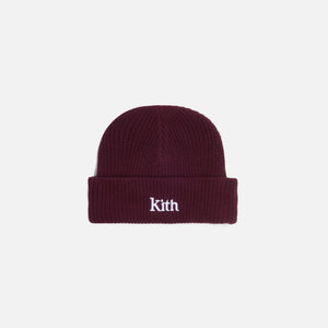 Kith Women Ribbed Mia Beanie - Wine Image 1
