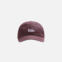 Kith Women Washed Twill Cap - Wine Thumbnail 1