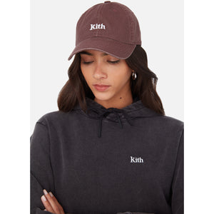 Kith Women Washed Twill Cap - Wine Image 2