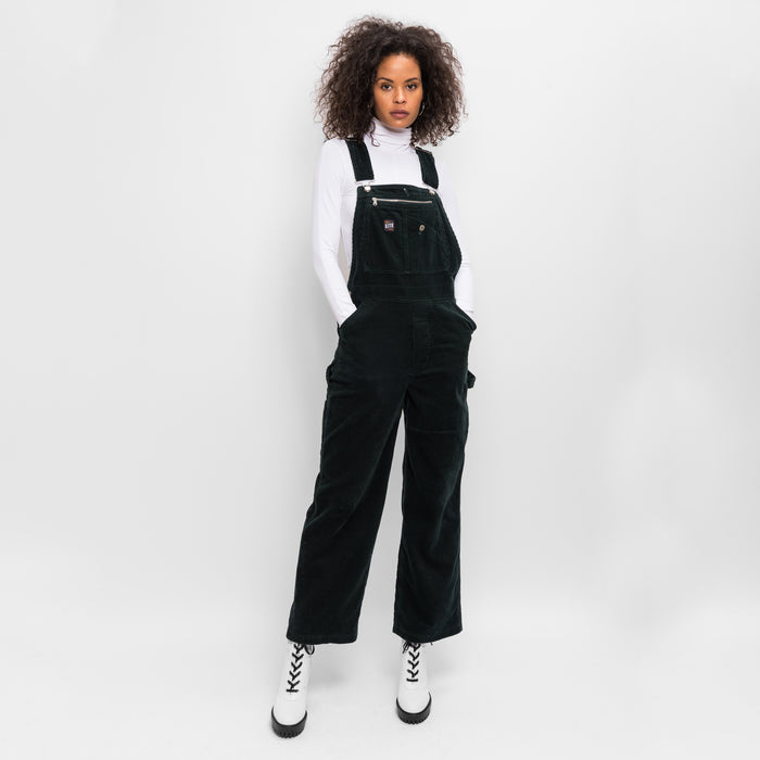 Kith Women Aliya Corduroy Overalls - Forest Green