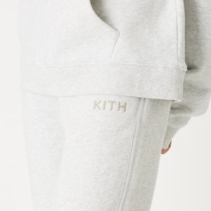 Kith Women Glitter Logo Sweatpant - Heather Grey