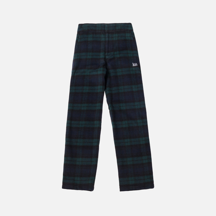 Kith Women Bailey Boot Cut Pant - Black Watch Plaid
