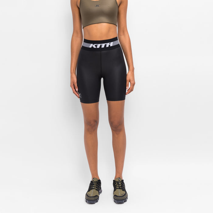 Kith Women Shine Biker Shorts - Black