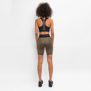 Kith Women Shine Biker Shorts - Khaki Green