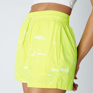 Kith Women Erika Nylon Short - Citron