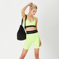Kith Women Liz Biker Short- Citron Thumbnail 1