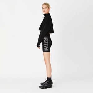 Kith Women Haley Swarovski Biker Shorts - Black Image 2