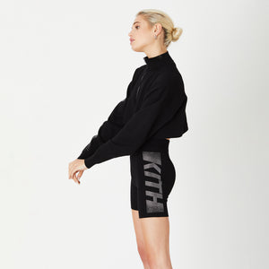 Kith Women Haley Swarovski Biker Shorts - Black Image 4