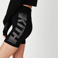 Kith Women Haley Swarovski Biker Shorts - Black Thumbnail 1
