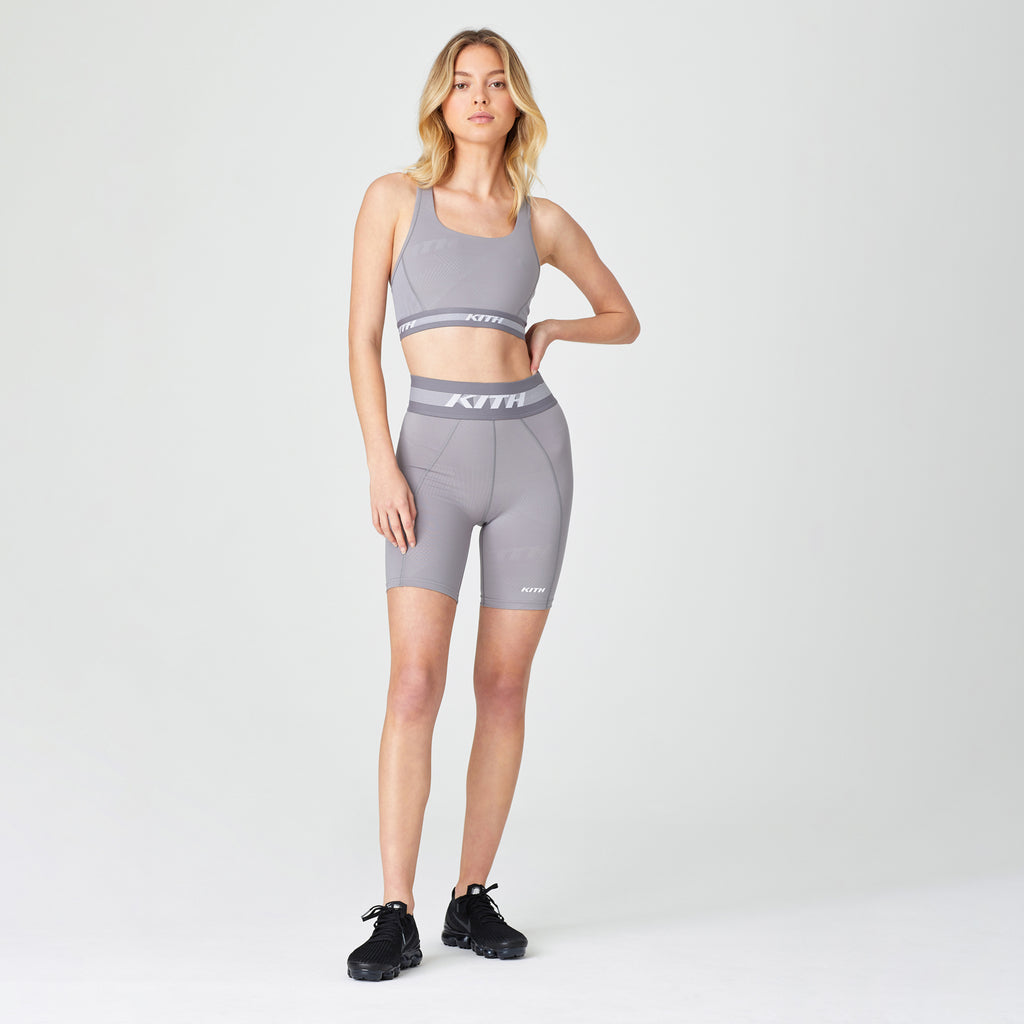 Kith Women Lindsey Biker Short - Lilac Grey-look