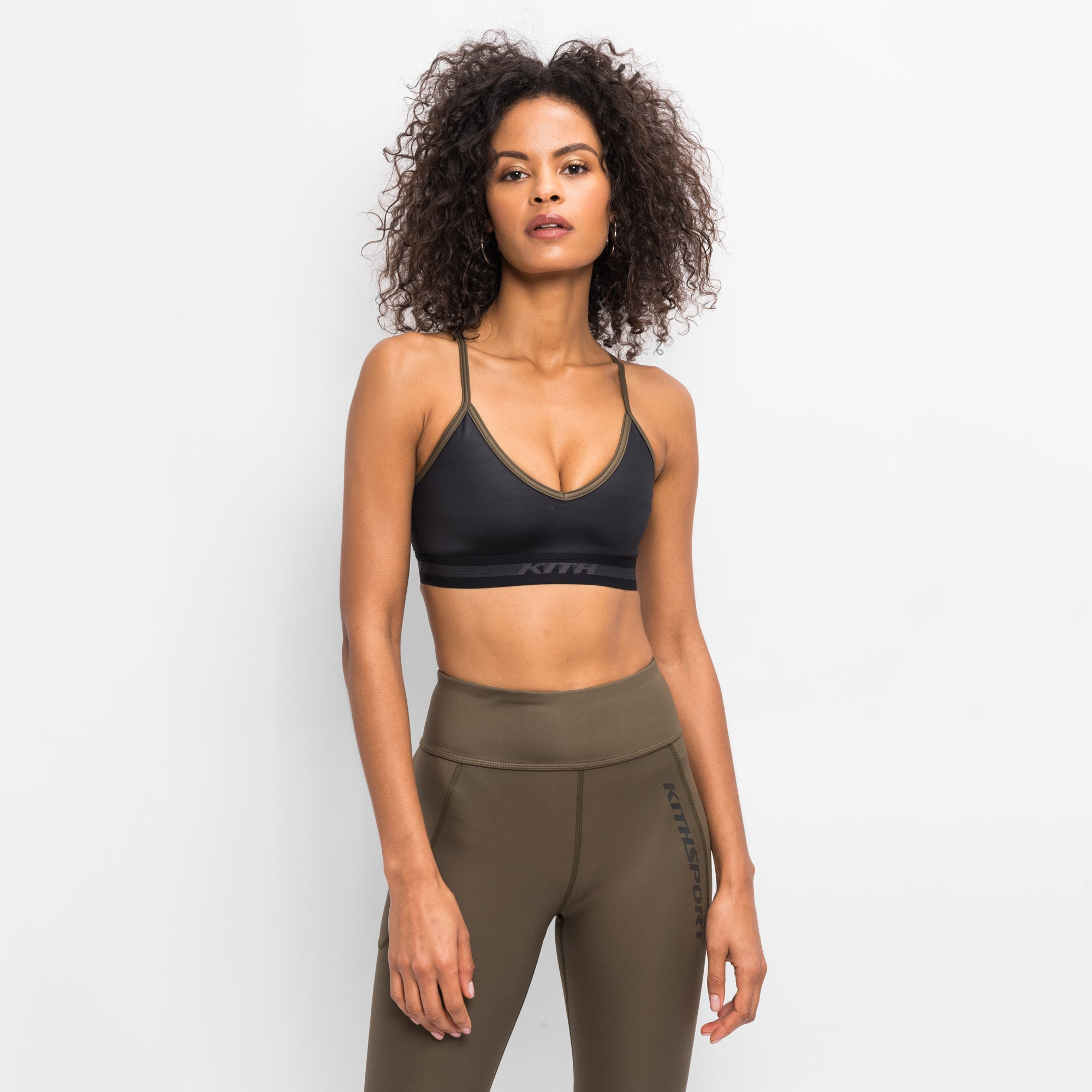 Kith Women Linda Shine Bra - Black / Khaki