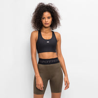 Kith Women Bianca Shine Sports Bra - Black Thumbnail 3