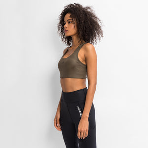Kith Women Bianca Shine Sports Bra - Khaki Green