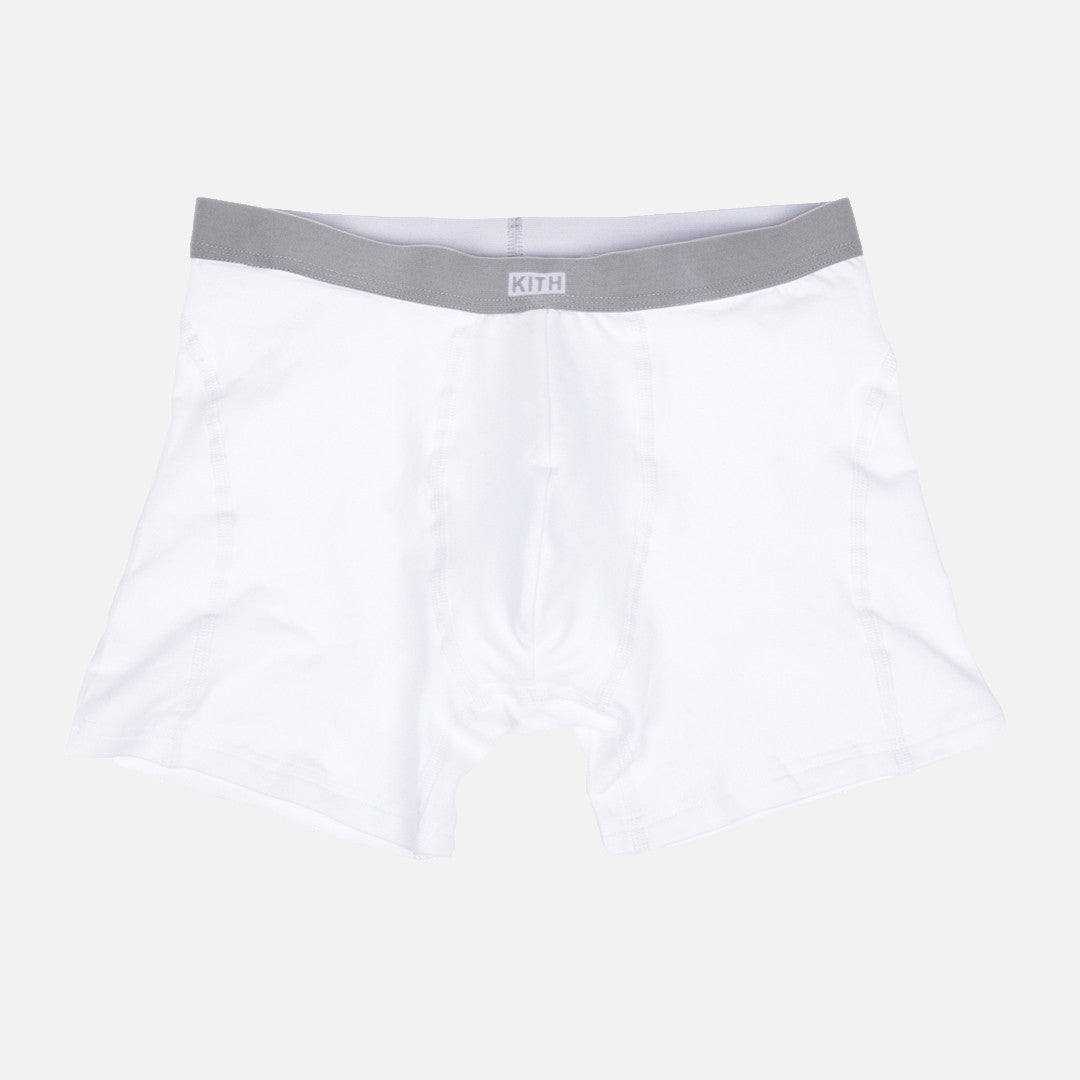 KITH Classics Boxer Brief - White / Grey