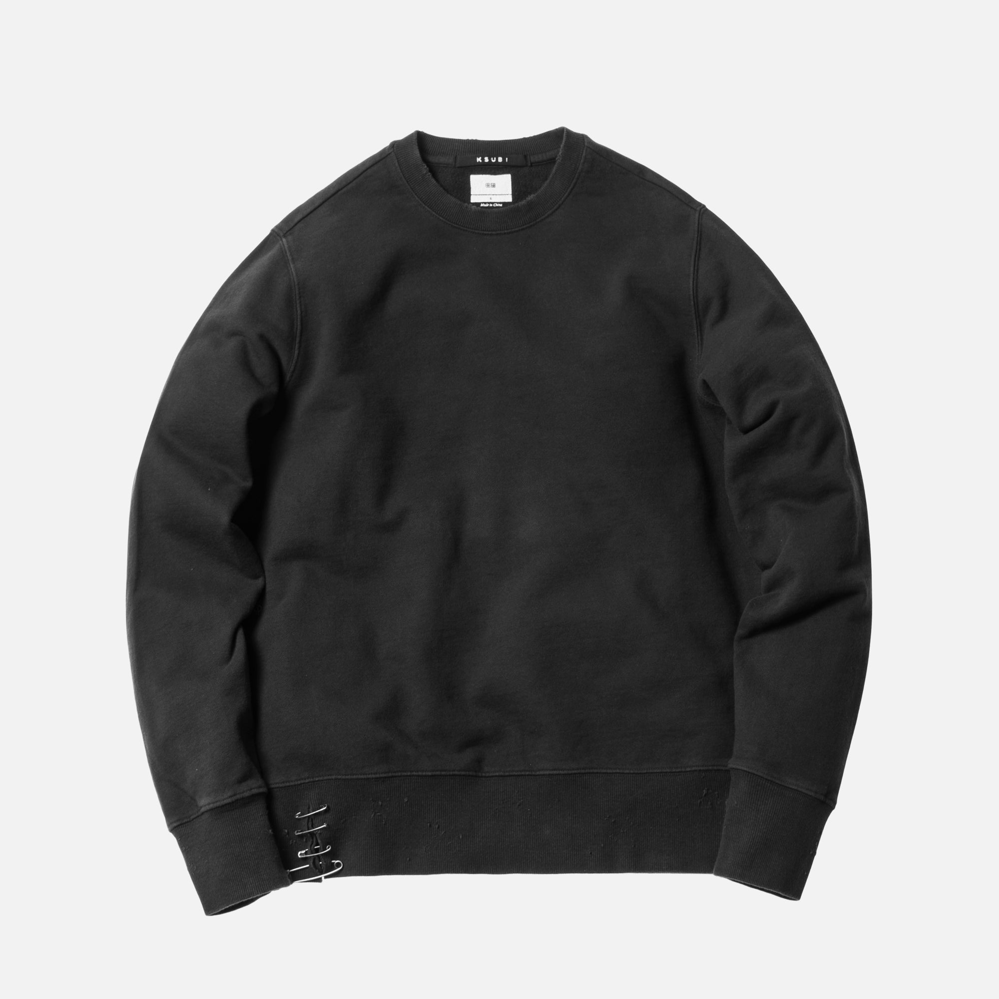 Ksubi Pins Back to Black Crewneck - Black