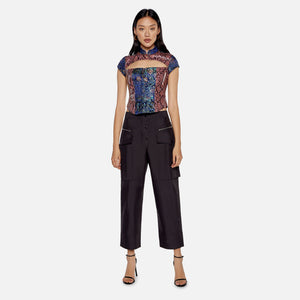 Kim Shui Brocade Top - Purple