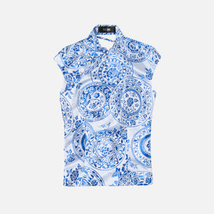 Kim Shui Backless Qipao - Blue