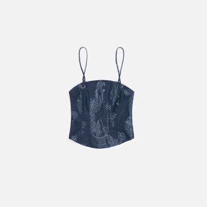 Kim Shui Dragon Bustier - Denim