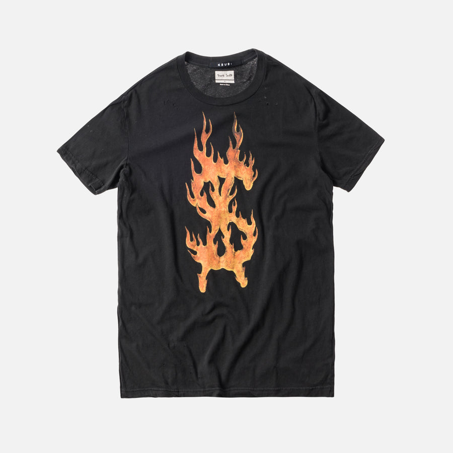 Ksubi x Travis Scott Flaming Dollar Tee - Black