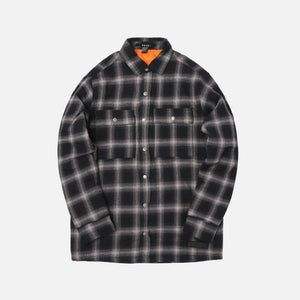 Ksubi Strata Quilted L/S Check Shirt - Multi