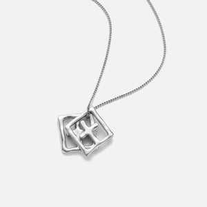 Ksubi 925 Dripps Box Cross Necklace - Silver