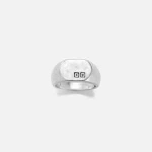 Ksubi 925 Dripps Box Cross Signet Ring - Silver