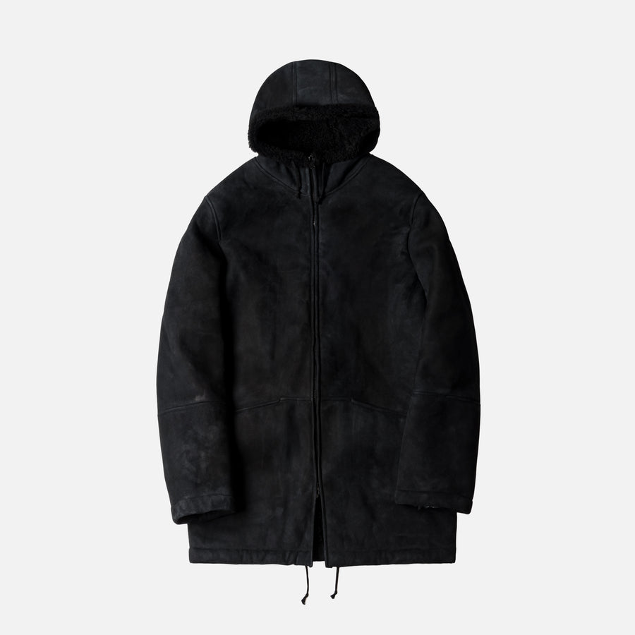 Yeezy Season 5 Long Shearling Jacket - Ink