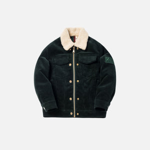 Kith Kids Hi-Pile Laight Jacket - Forest Green