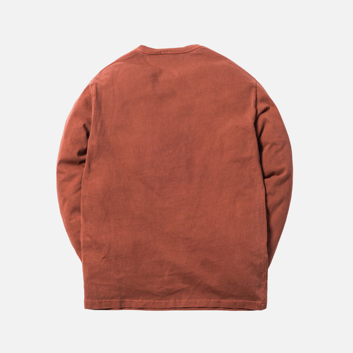 Kith Pigment Dyed Serif Logo L/S - Baked Clay