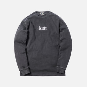 Kith Pigment Dyed Serif Logo L/S - Shark