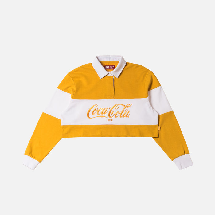 Kith Women x Coca-Cola Cropped L/S Rugby - Yellow