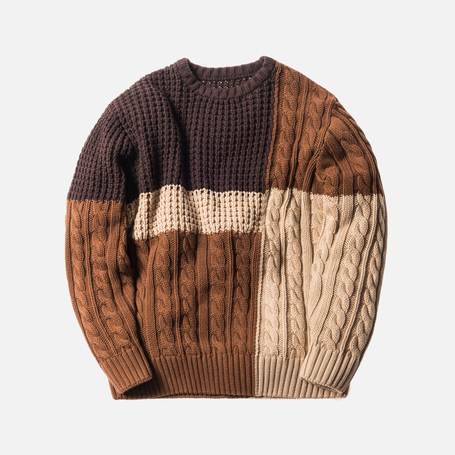 Kith Wheatley Combo Sweater - Natural
