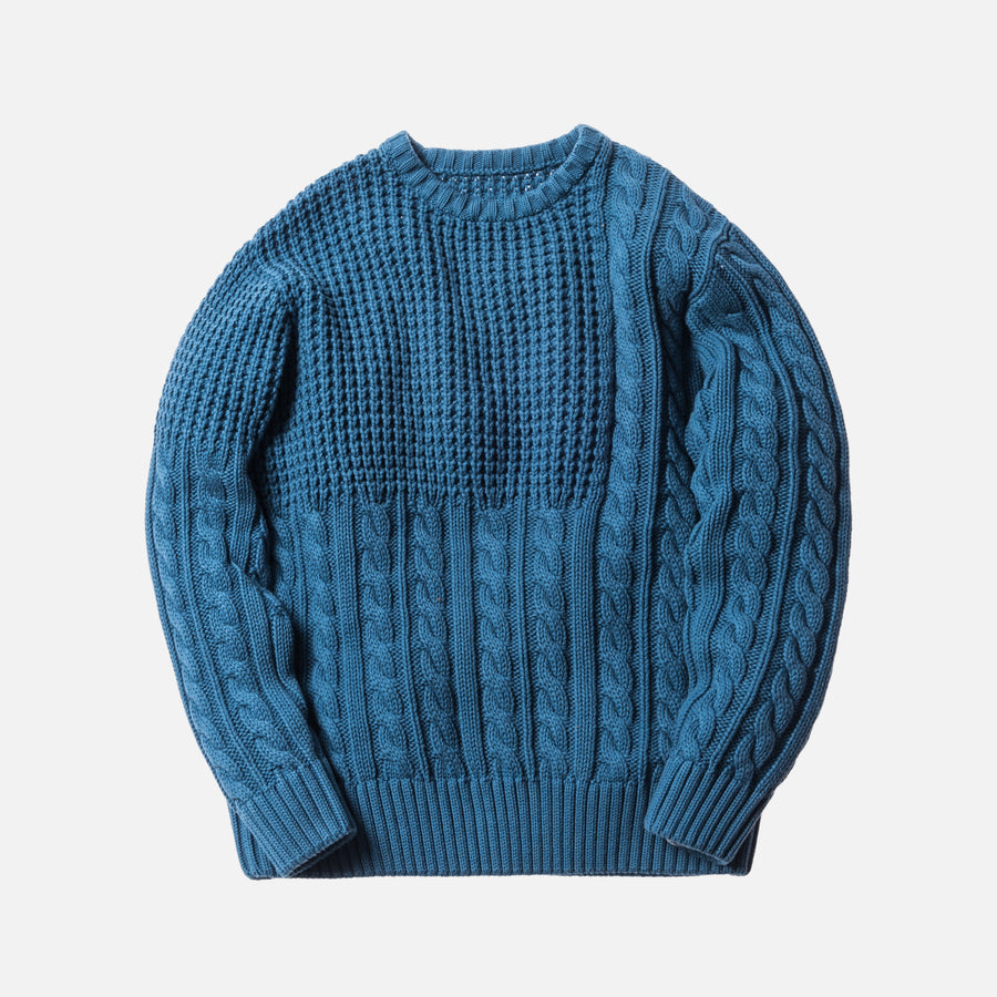 Kith Wheatley Combo Sweater - Indigo
