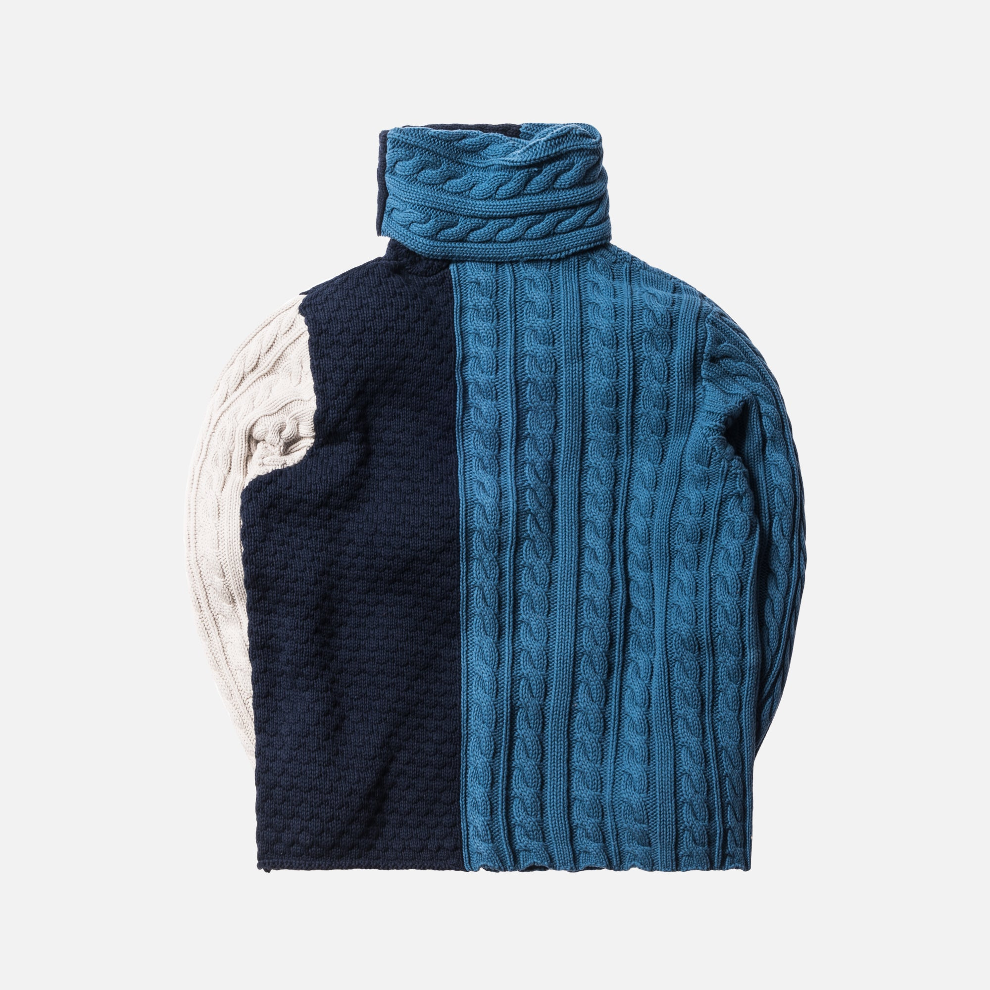 Kith Sherwood Knit Sweater - Indigo / Navy / Light Grey