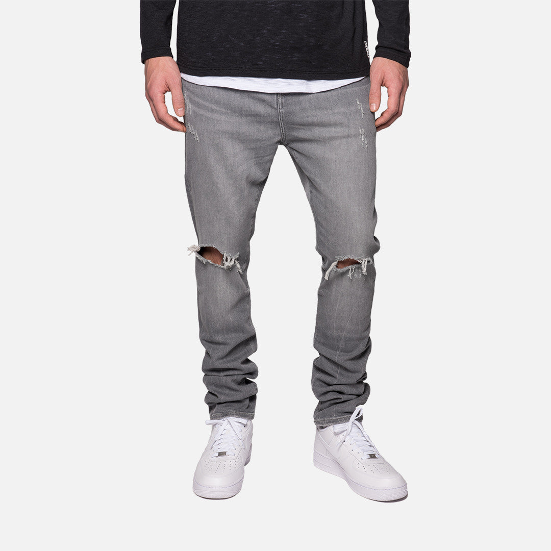 Kith Classics Monroe Destroyed Denim - Grey
