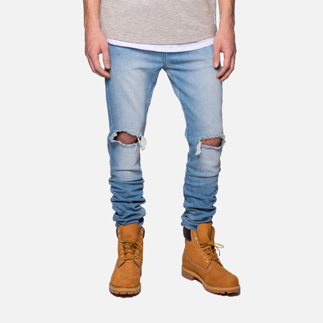 Kith Classics Monroe Destroyed Denim - Light Blue