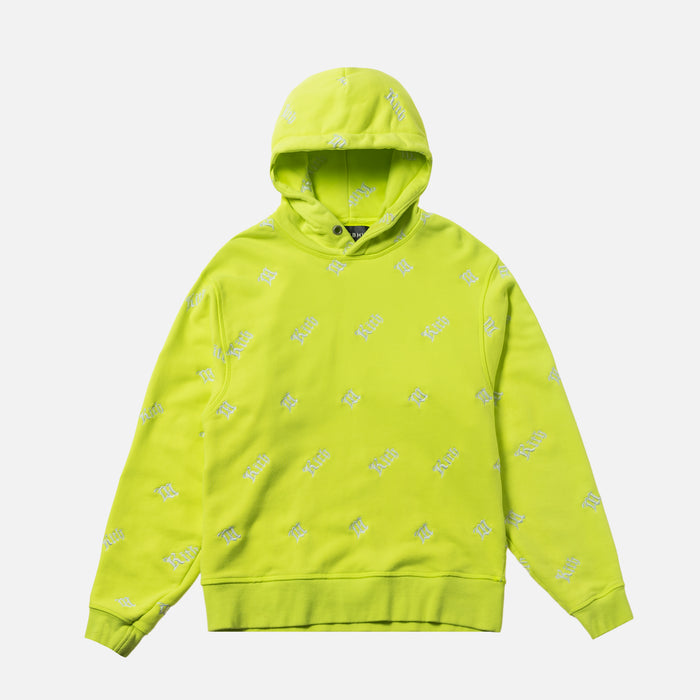 Kith Women x MISBHV Monogram Embroidered Hoodie - Neon
