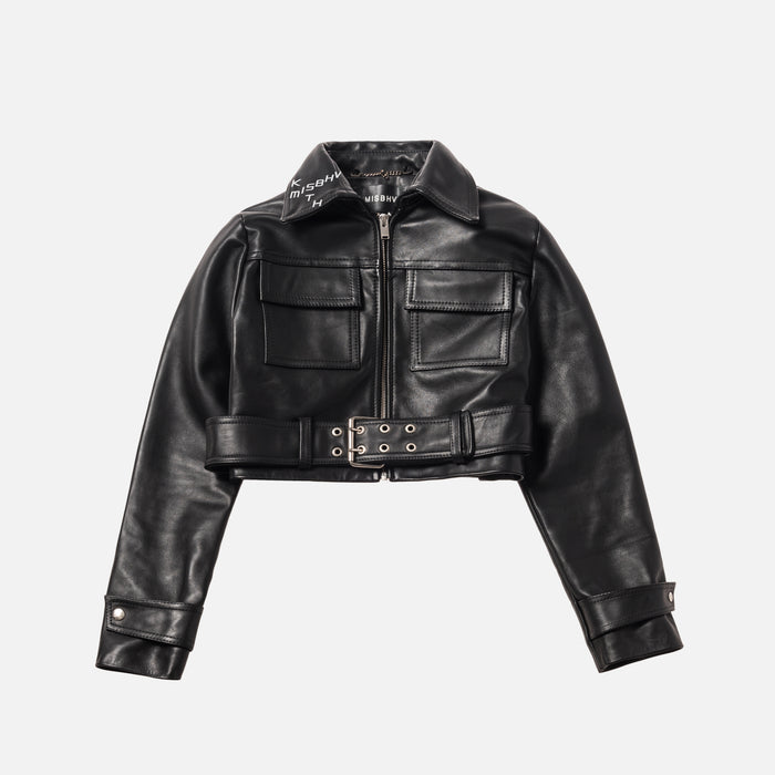 Kith Women x MISBHV Eternal Nights Cropped Leather Jacket - Black