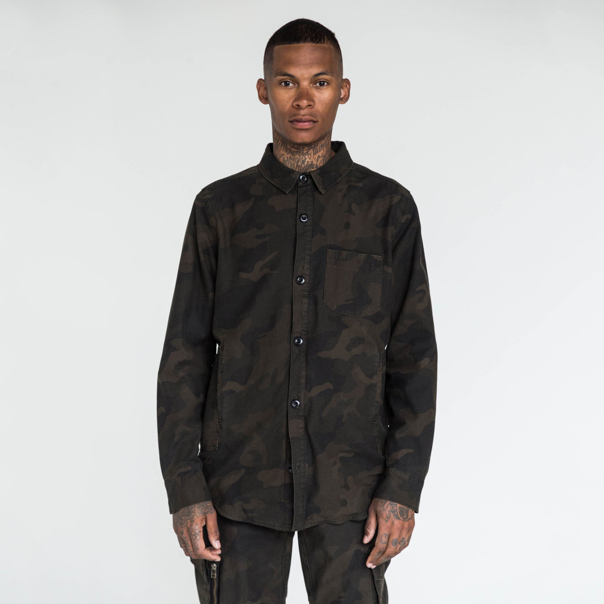 Kith Fatigue Ginza Button-Up - Woodland Camo