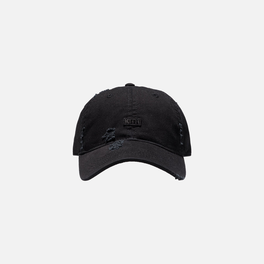 Kith Distressed Riley Cap - Black