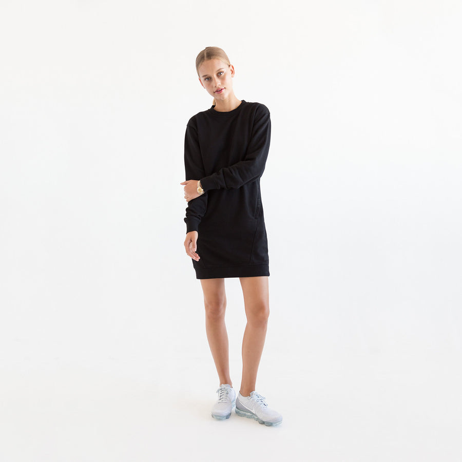 Kith Kaylee L/S Sweatshirt Dress - Meteorite