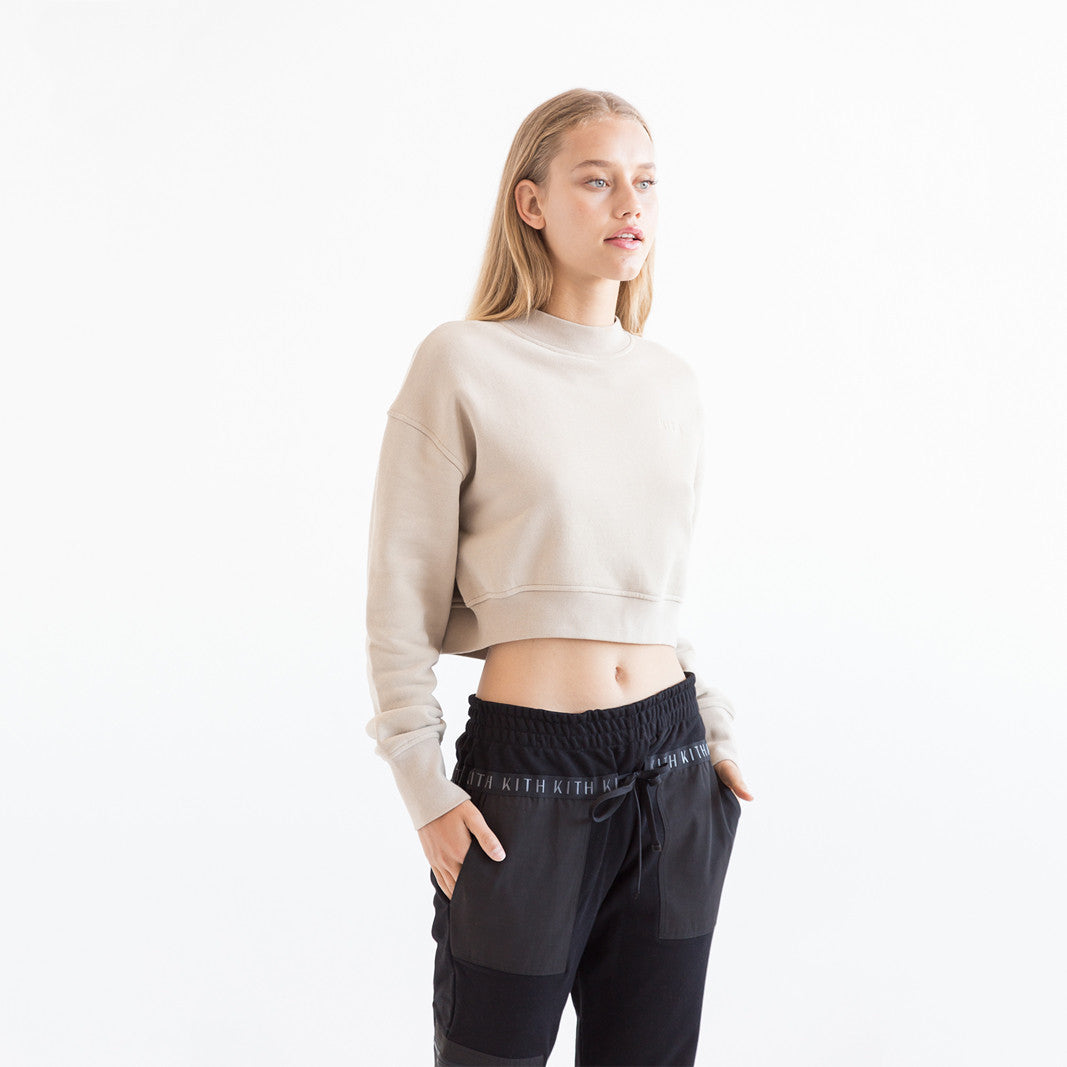 Kith Marlow Cropped Crewneck - Sand
