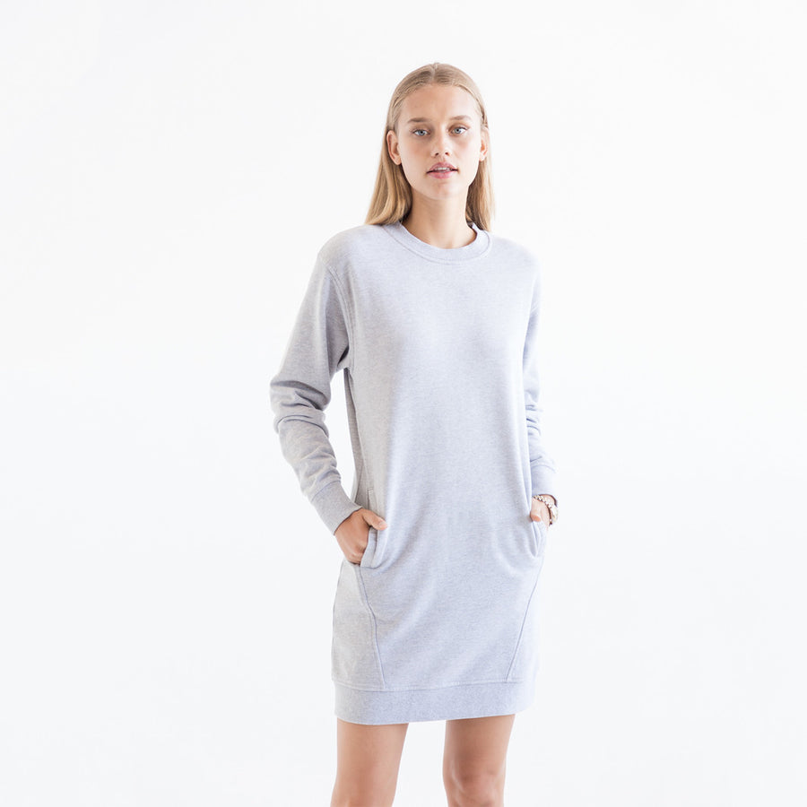 Kith Kaylee L/S Sweatshirt Dress - Grey