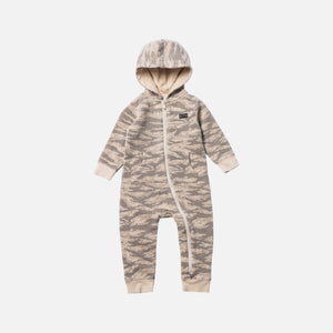 Kith Kids Toddler Camo Blocked Coverall - Off Beige / Multi Image 1