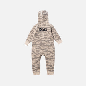 Kith Kids Toddler Camo Blocked Coverall - Off Beige / Multi