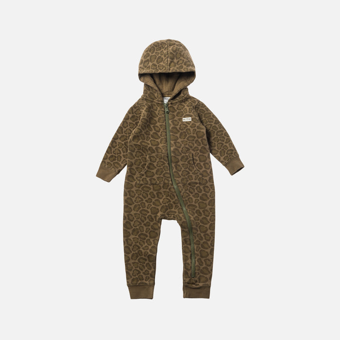 Kith Kids Toddler Camo Blocked Coverall - Green / Multi