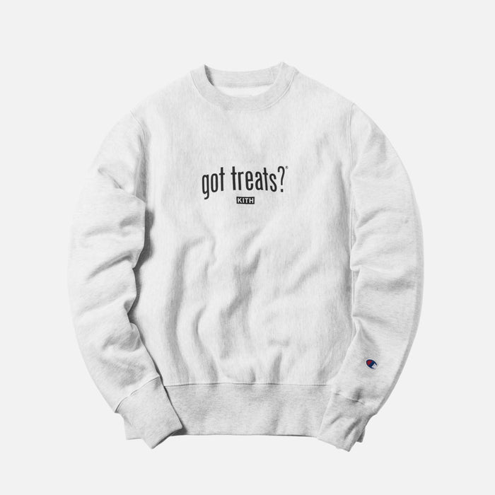 Kith Treats x got milk? Got Treats Crewneck - Heather Grey