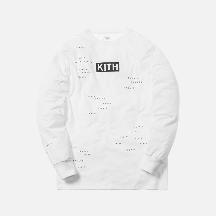 Kith Treats Encrypted L/S Tee - White