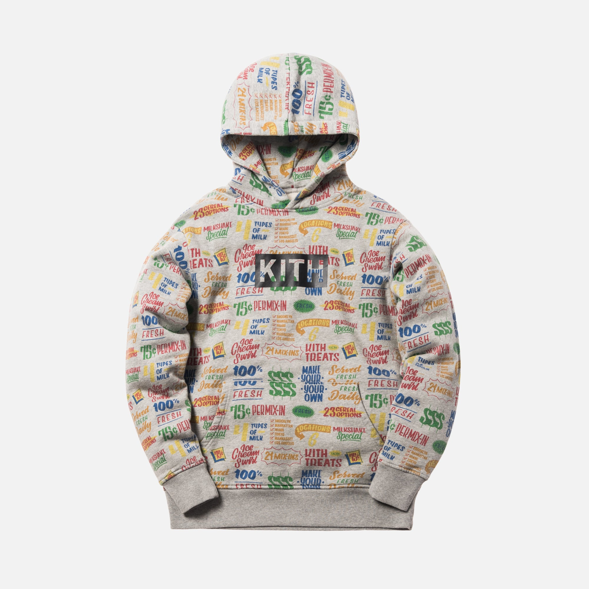 Kith Treats Circular Hoodie - Heather Grey